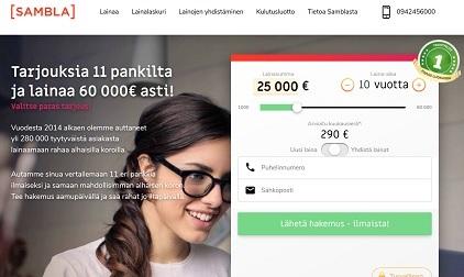 Sambla tekee tehokasta yhteistyötä pankkien kanssa ja nimekkäitä pankkeja ovat mm. Kaarna (Santander), Komplett Bank ja Resurs Bank