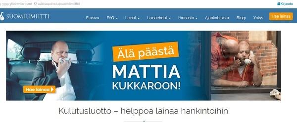 Suomilimiitti kulutusluotto on uusi tuote markkinoillamme ja senkään avulla meidän edes mennyt Matti-legenda ei pääse kukkaroon. Kulutusluotto on vakuudeton yksinkertainen laina toisin kuin ehkä joustoluotto, joka oli aikaisemmin tarjolla Suomilimiitti -palvelun toimesta