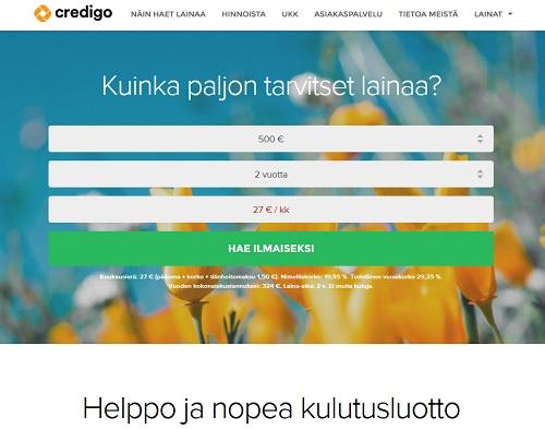 Hae Credigo kulutusluotto pitkällä maksuajalla tässä ja nyt