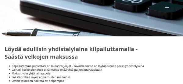 Edullista lainaa Suomen yhdistelylainalla