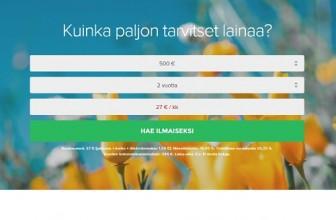 Credigo on selkeä 500-5000€ kulutusluotto