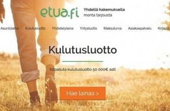 Etua.fi – Sen kautta löydät aina halvimmat lainat