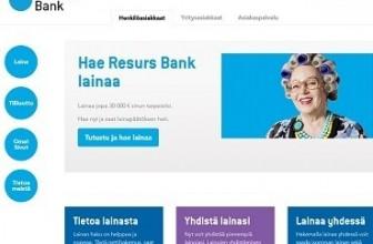 Resurs Bank – Yksityislainojen välittäjä netissä.
