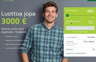 Vivus Jousto – Luottoa jopa 100-3000 euroa ilman nostokuluja